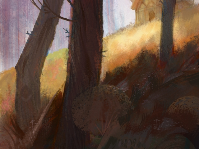 Cabin final Digital Painting